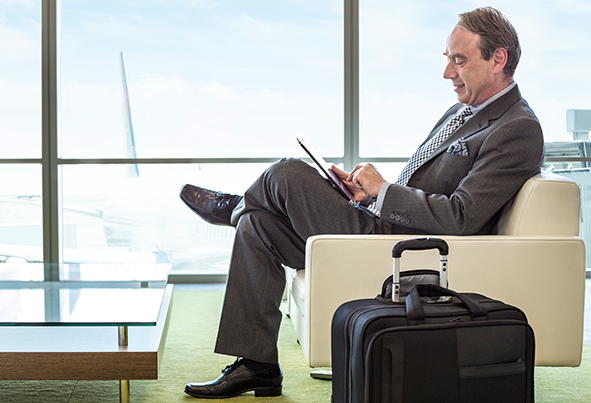 Smart business travel apps, gadgets and advice (Tiled)